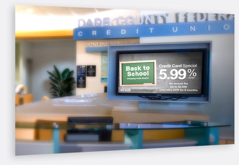 Digital Screen Installation at Credit Union