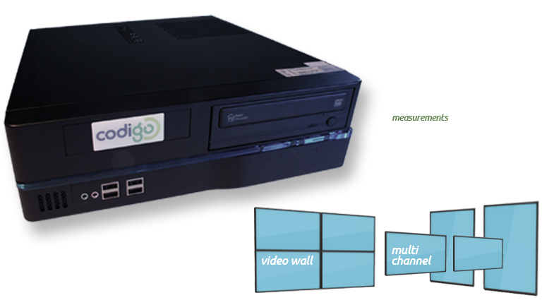 Digital Signage powered by Codigo's Small Form Factor PC