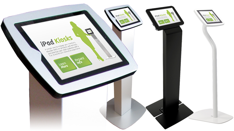 Freestanding Kiosk Stand for interactive digital kiosk